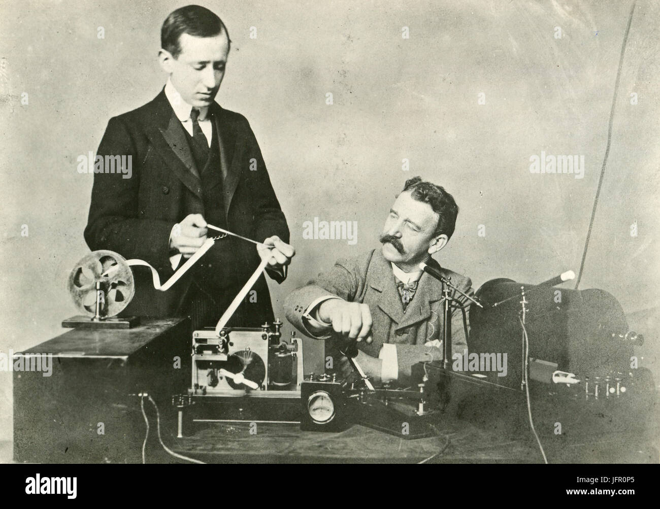 3d35432c4 Early photo of Guglielmo Marconi and his first assistant