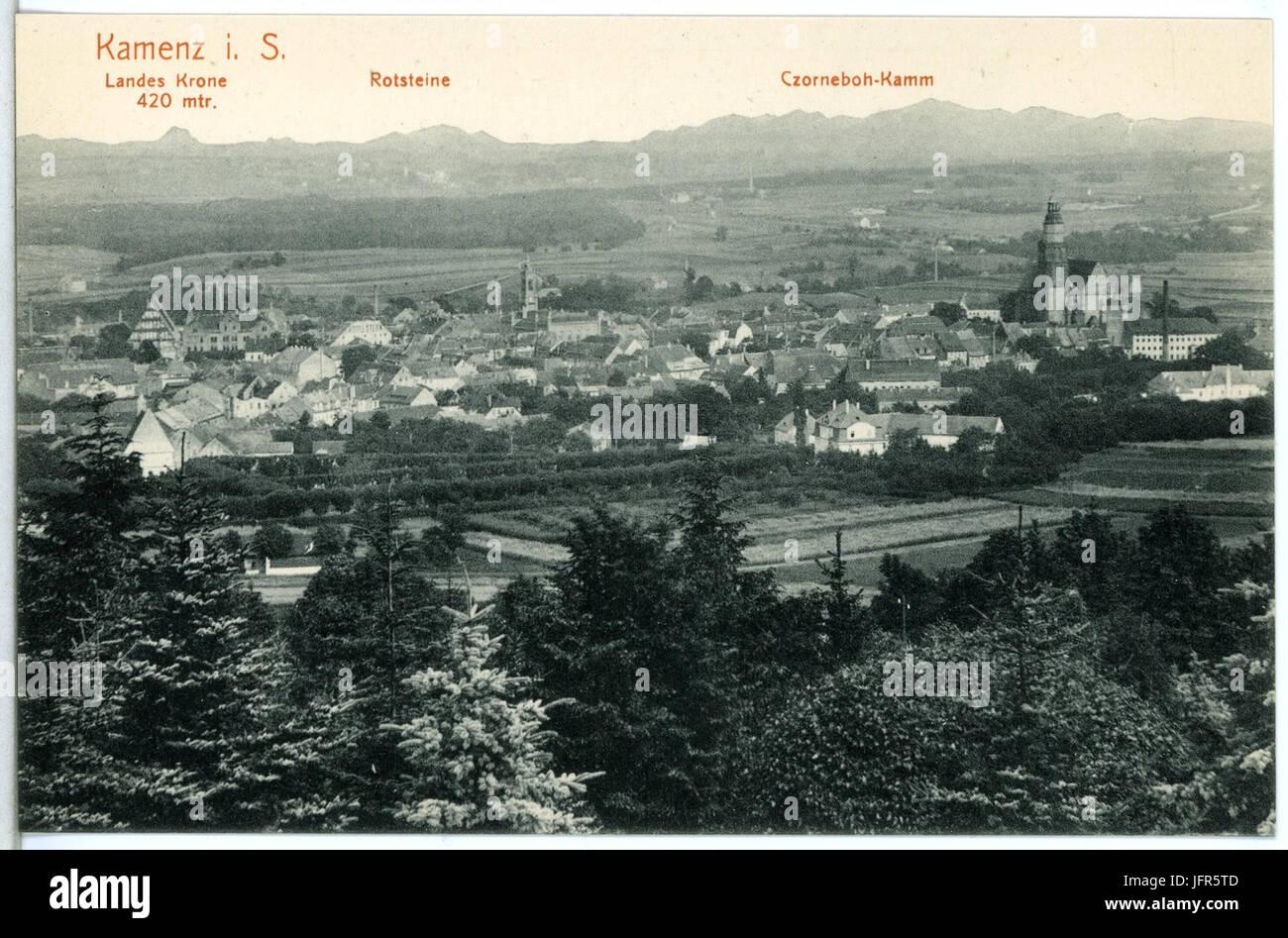 14948-Kamenz-1912-Blick auf Kamenz-Brück & Sohn Kunstverlag - Stock Image