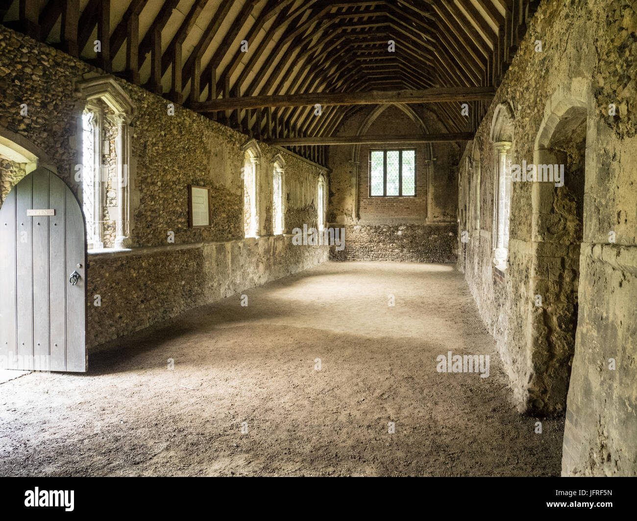 Duxford Chapel in Whittlesford, Cambridgeshire. This is a c14 Chantry Chapel that may once have been used as a leper - Stock Image