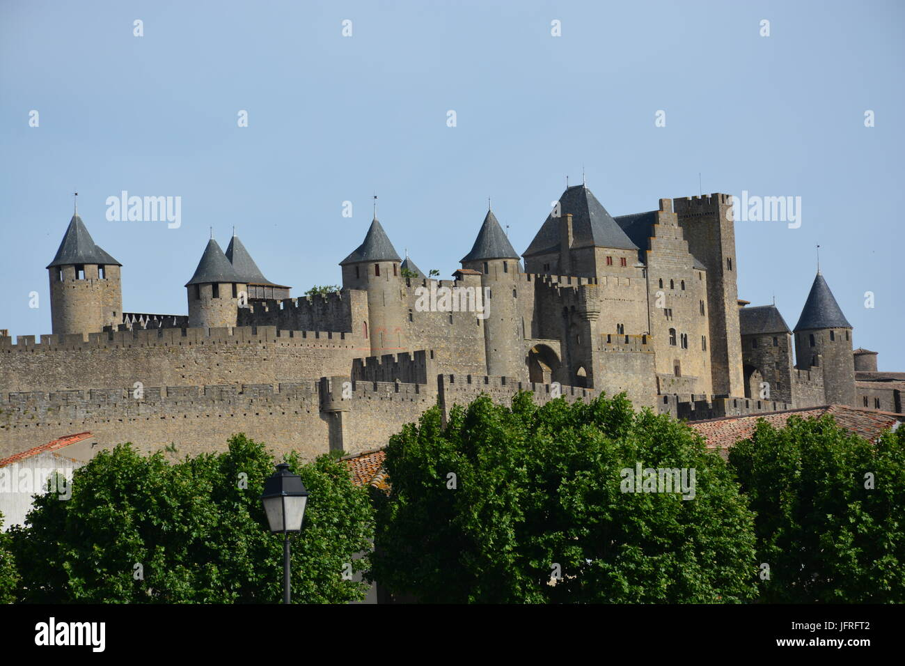 The medieval city of Carcassone, Occitanie, France - Stock Image