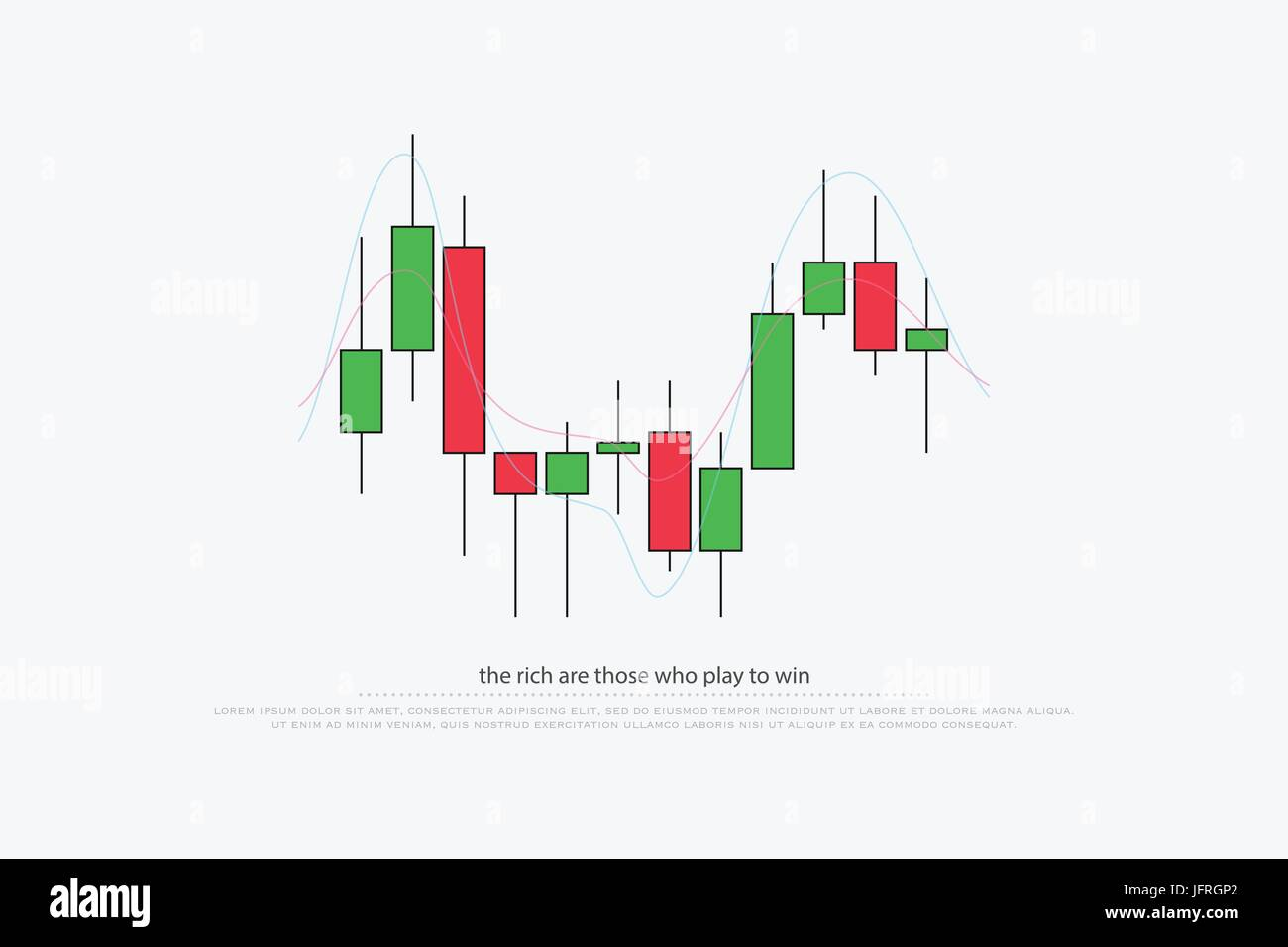 abstract background with japanese candles pattern. vector currencies trading diagram. exchange market graph. forex - Stock Image