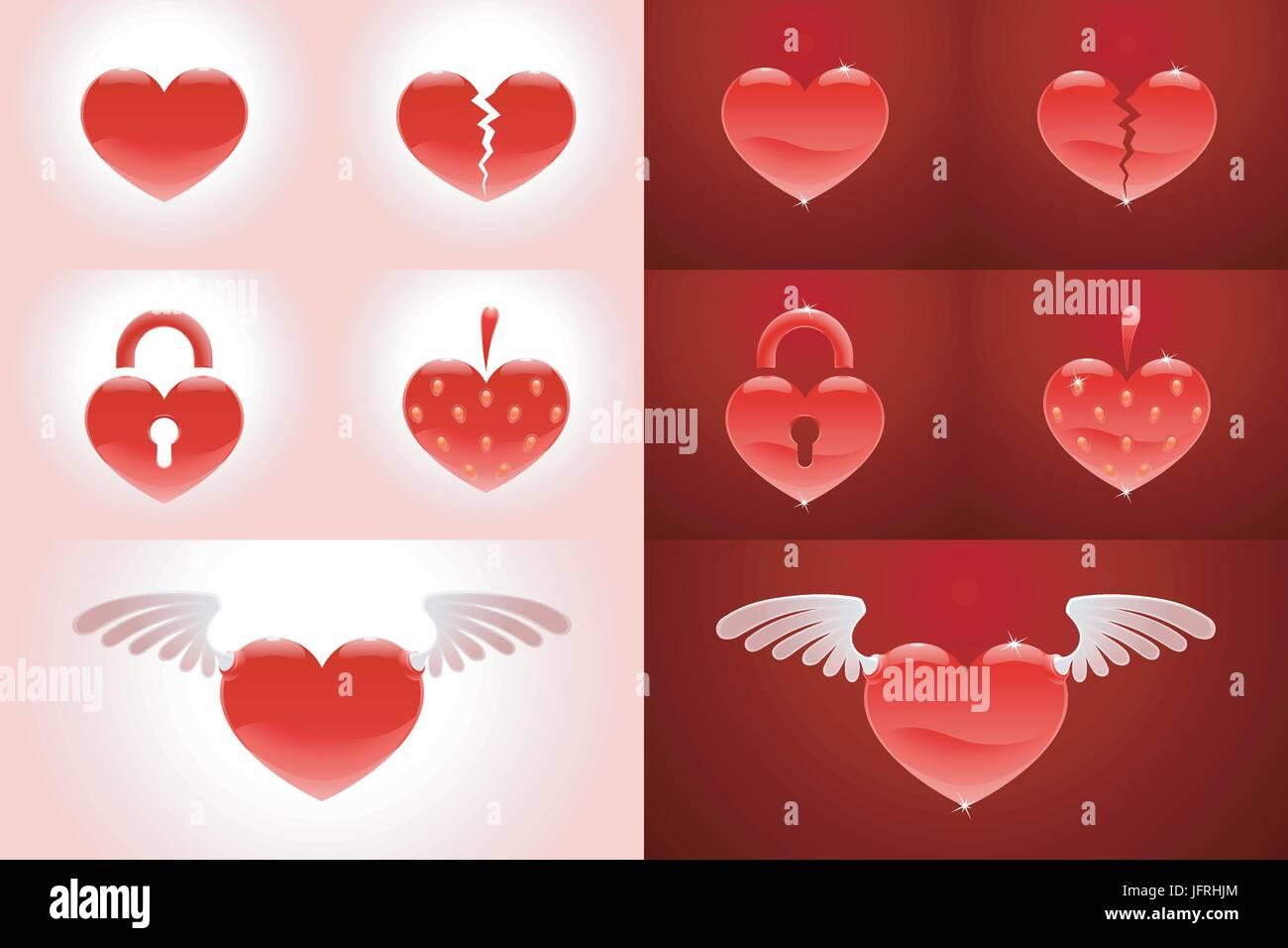 Broken Heart Symbols Stock Photos Broken Heart Symbols Stock
