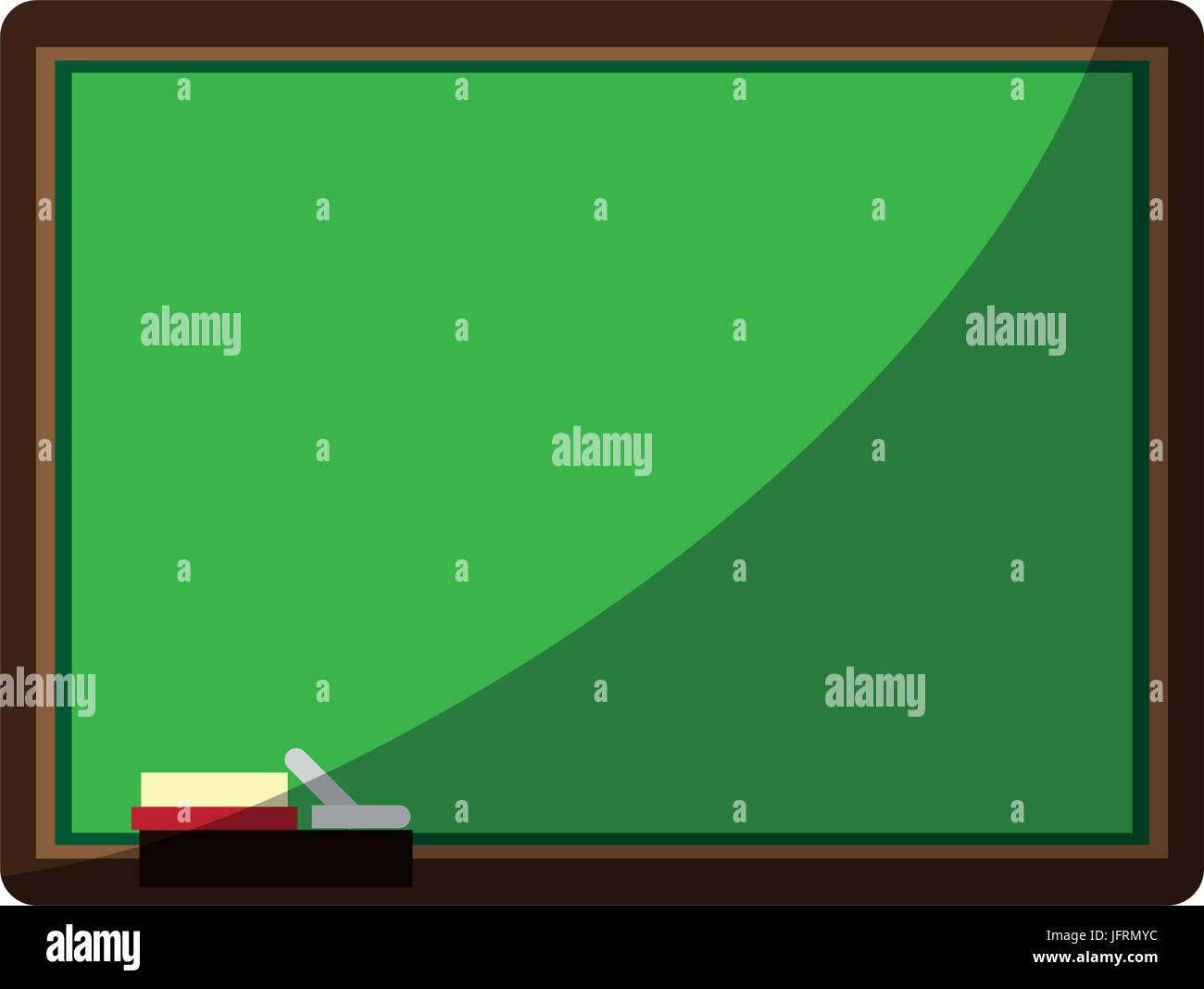 Chalk Board With School Supply Icon Image Vector Illustration Design - Pool table chalk board