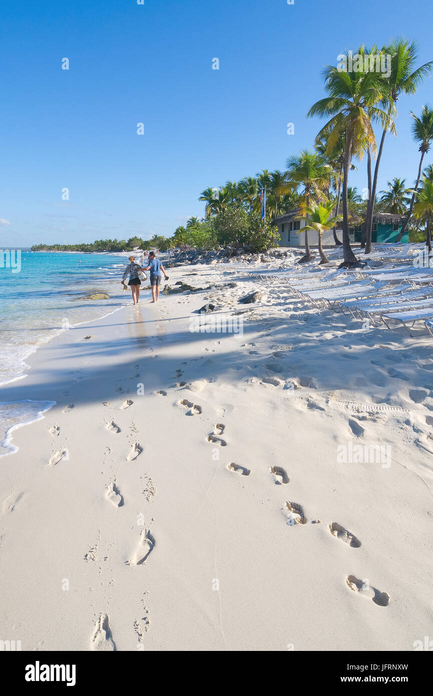 Catalina island - Playa de la isla Catalina - Caribbean tropical sea - Stock Image