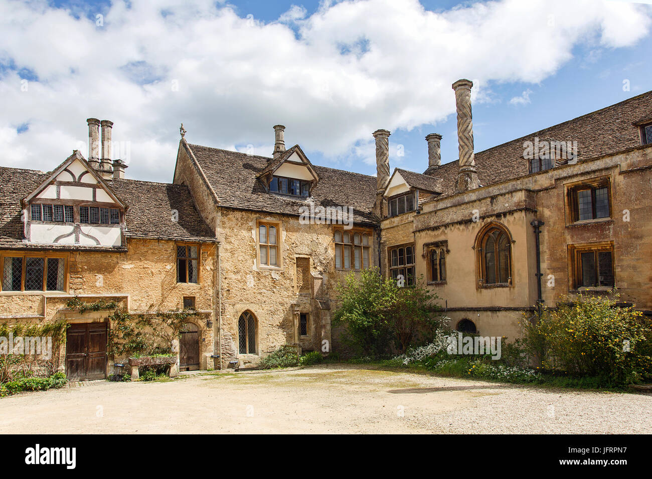 Lacock Abbey - Stock Image