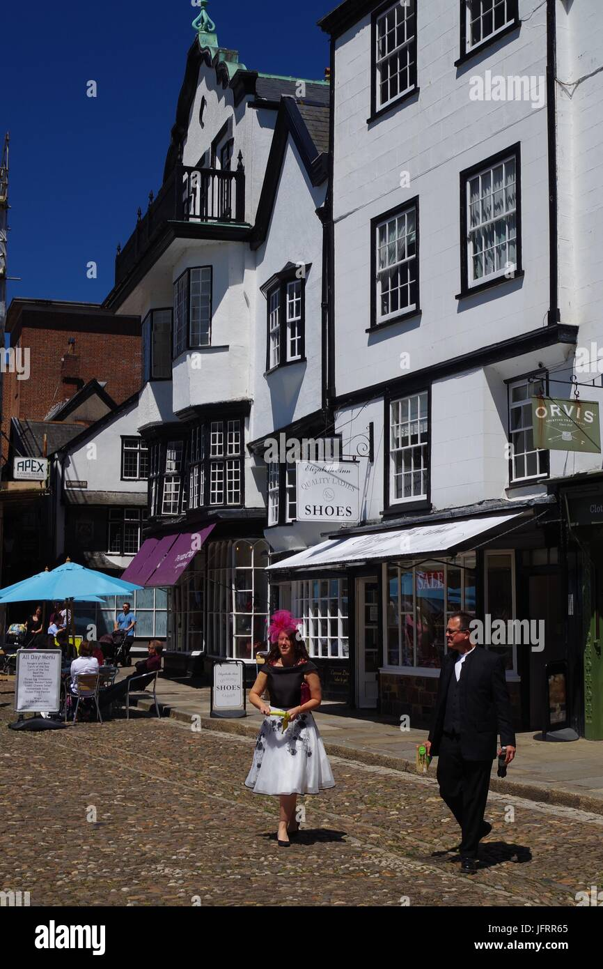 Mol's Coffee House, Ecclesiastical Building. Exeter Cathedral Close, Exeter, Devon, UK. July, 2017. - Stock Image