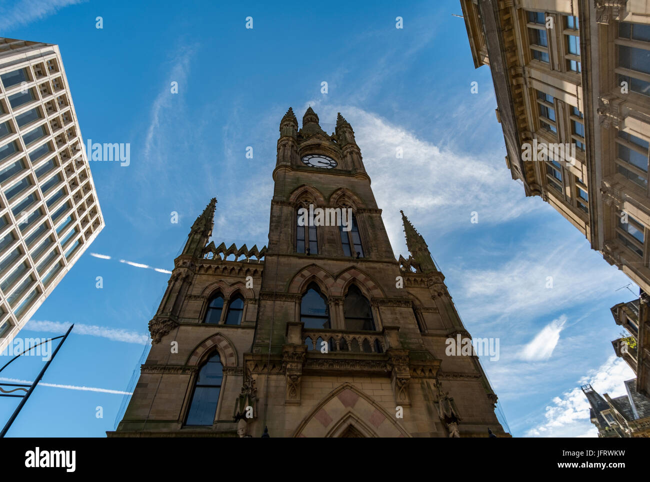 The fabulously ornate Wool Exchange building in the heart of Bradford City Centre, West Yorkshire, UK, now the home - Stock Image