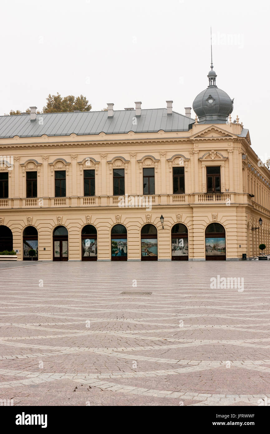 The exterior of the Workers' Hall, Vukovar, Croatia, fully restored after the serbo-croat war in 1991 - Stock Image