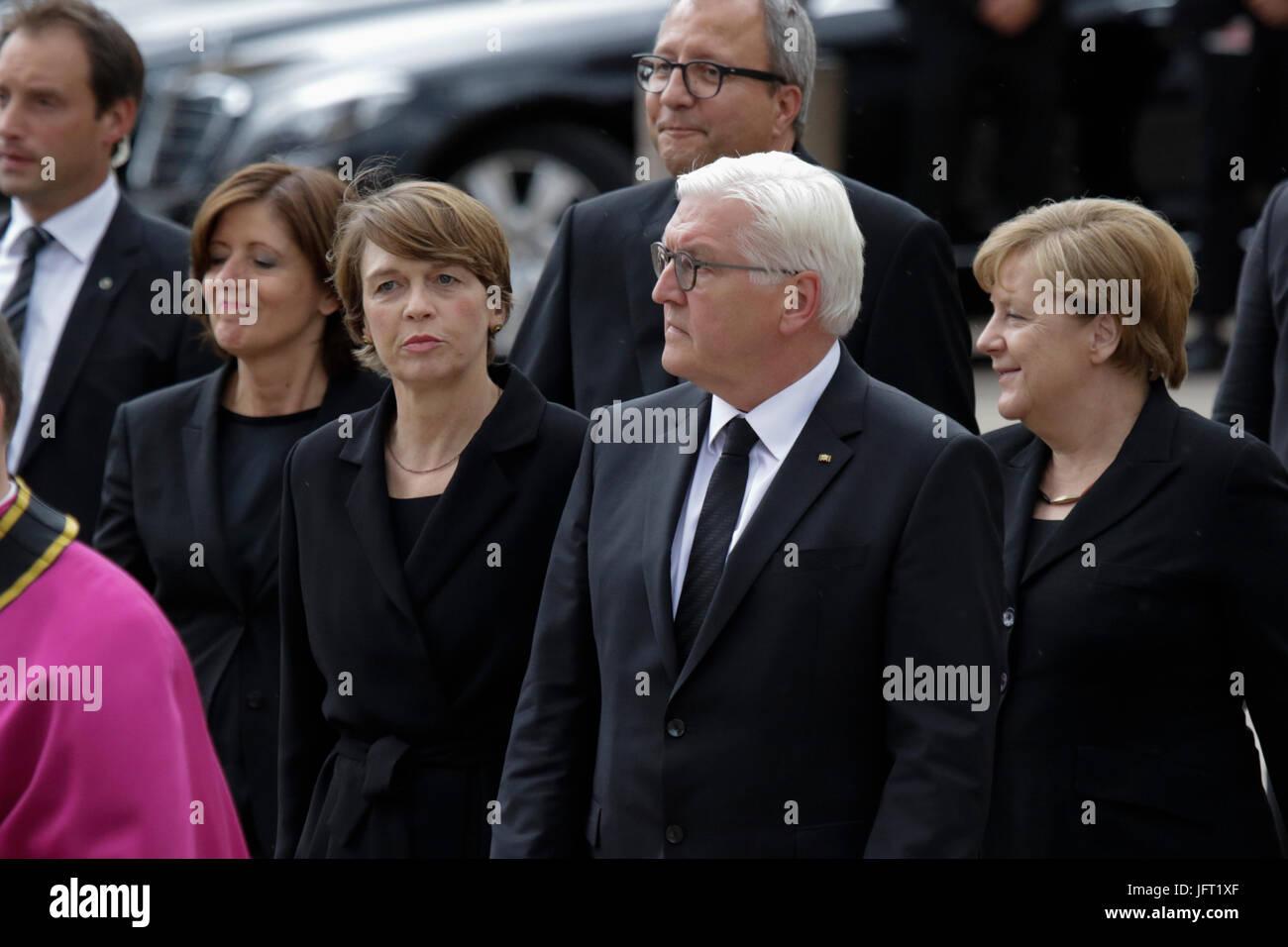 Speyer, Germany. 01st July, 2017. Frank-Walter Steinmeier (centre), the President of Germany, his wife Elke Budenbender - Stock Image