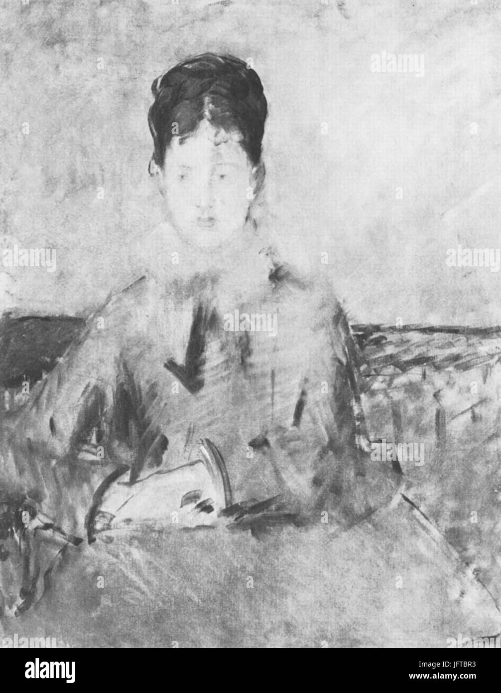 Édouard Manet - Femme (RW 333) - Stock Image