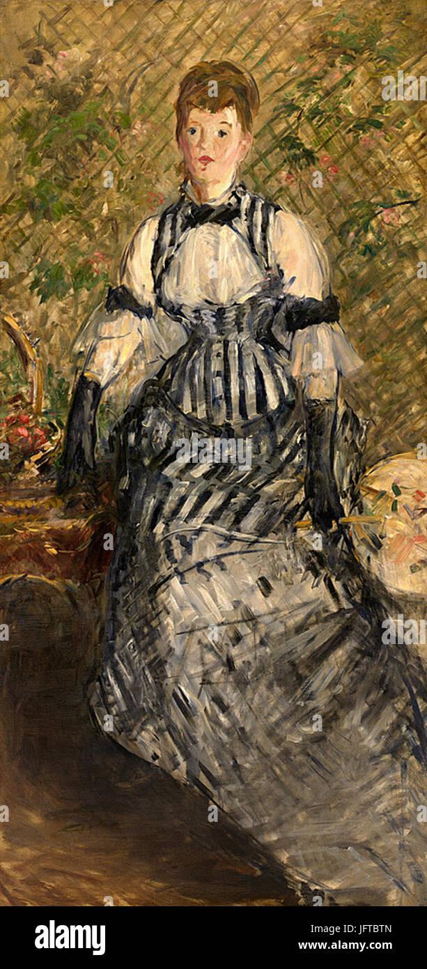 Édouard Manet - Femme en robe de soirée (RW 341) - Stock Image