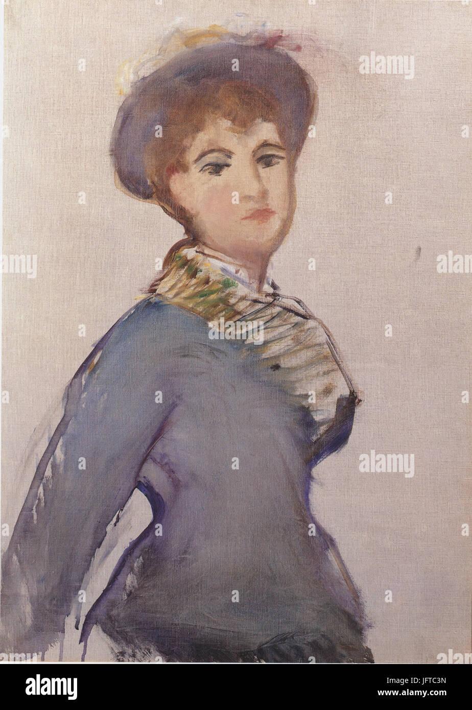Édouard Manet - Jeune fille à mi-corps (RW 308) - Stock Image
