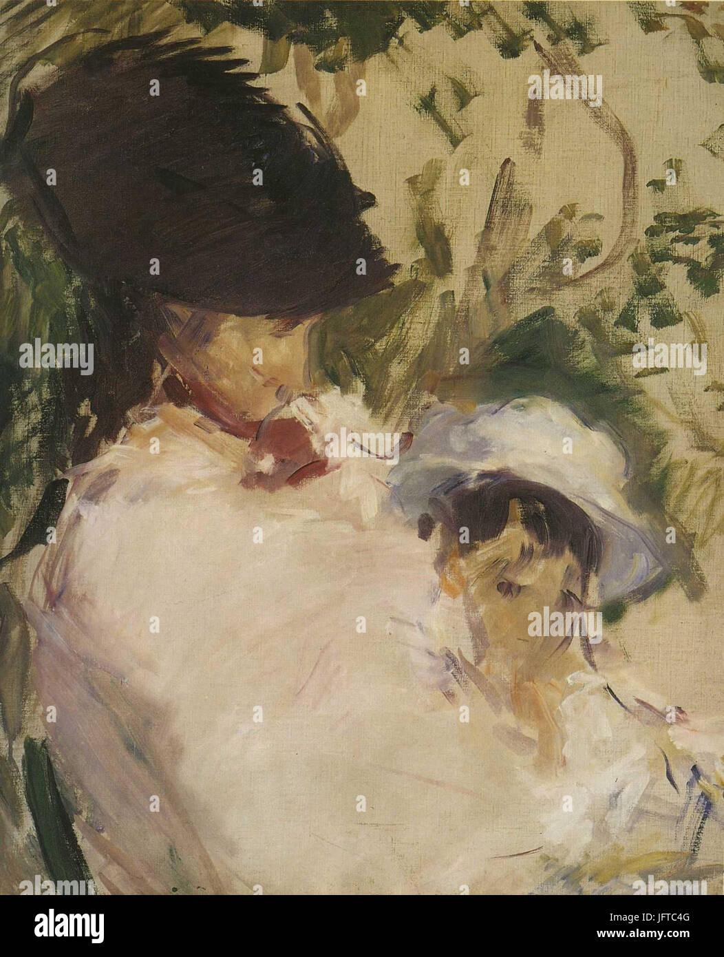 Édouard Manet - Jeune fille et enfant (RW 314) - Stock Image