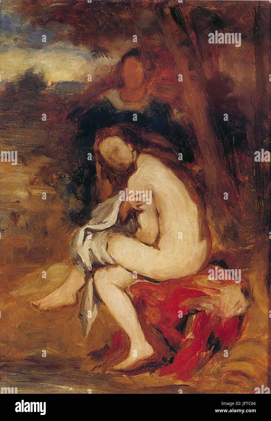 Édouard Manet - La nymphe surprise (RW 38) - Stock Image