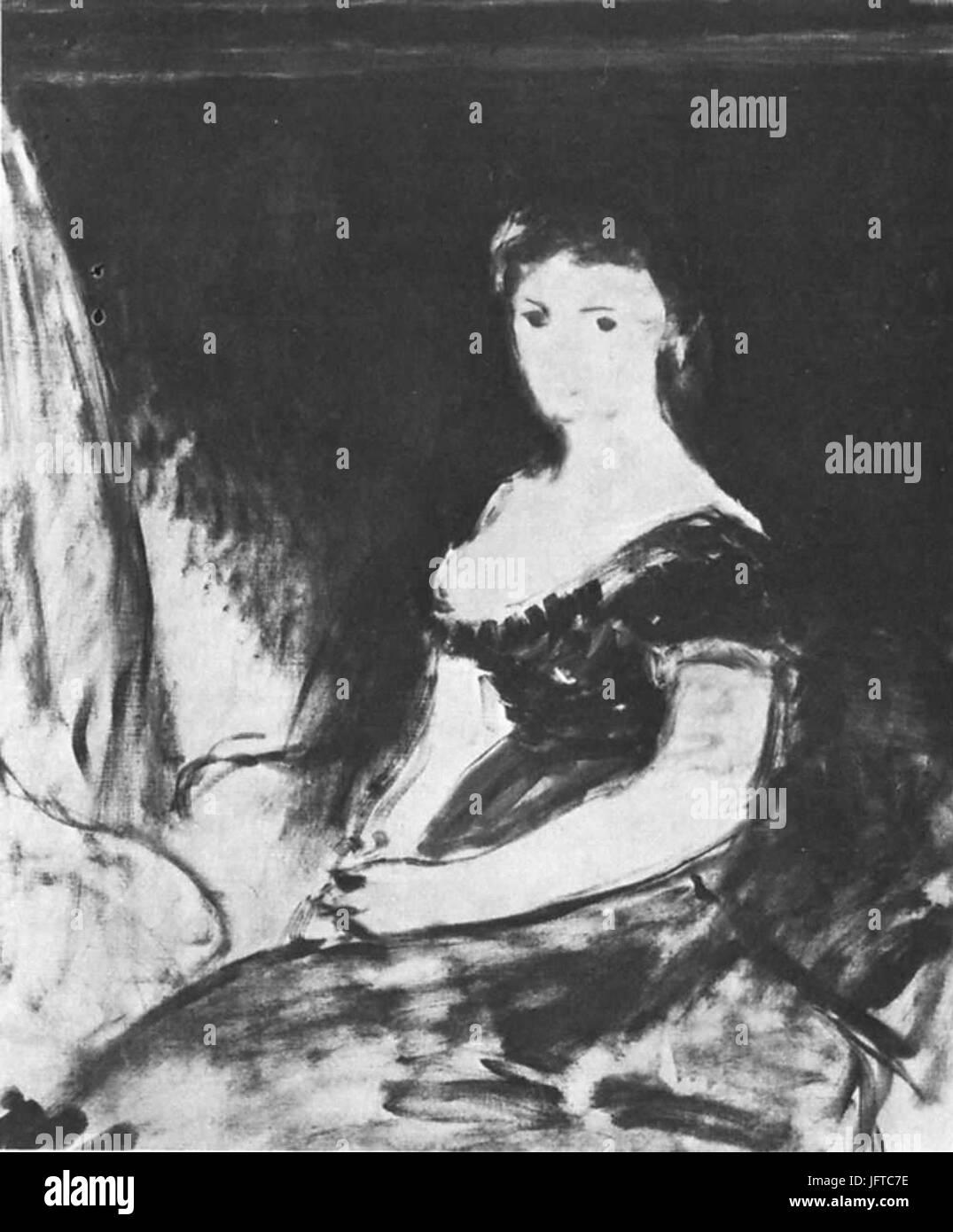 Édouard Manet - Leçon de musique (RW 151) - Stock Image