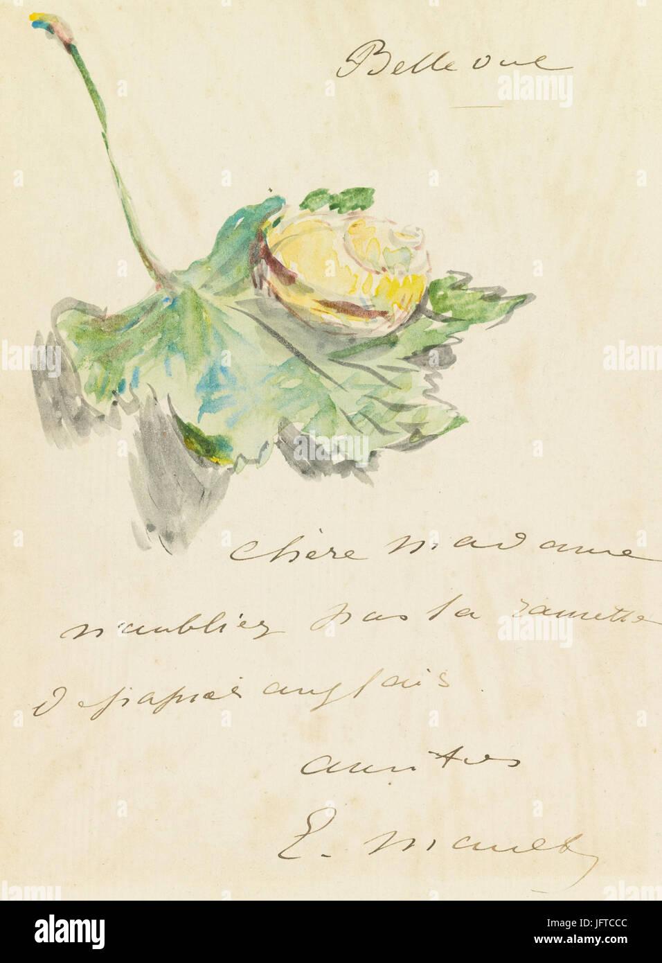 Édouard Manet - Lettre (RW 593) - Stock Image