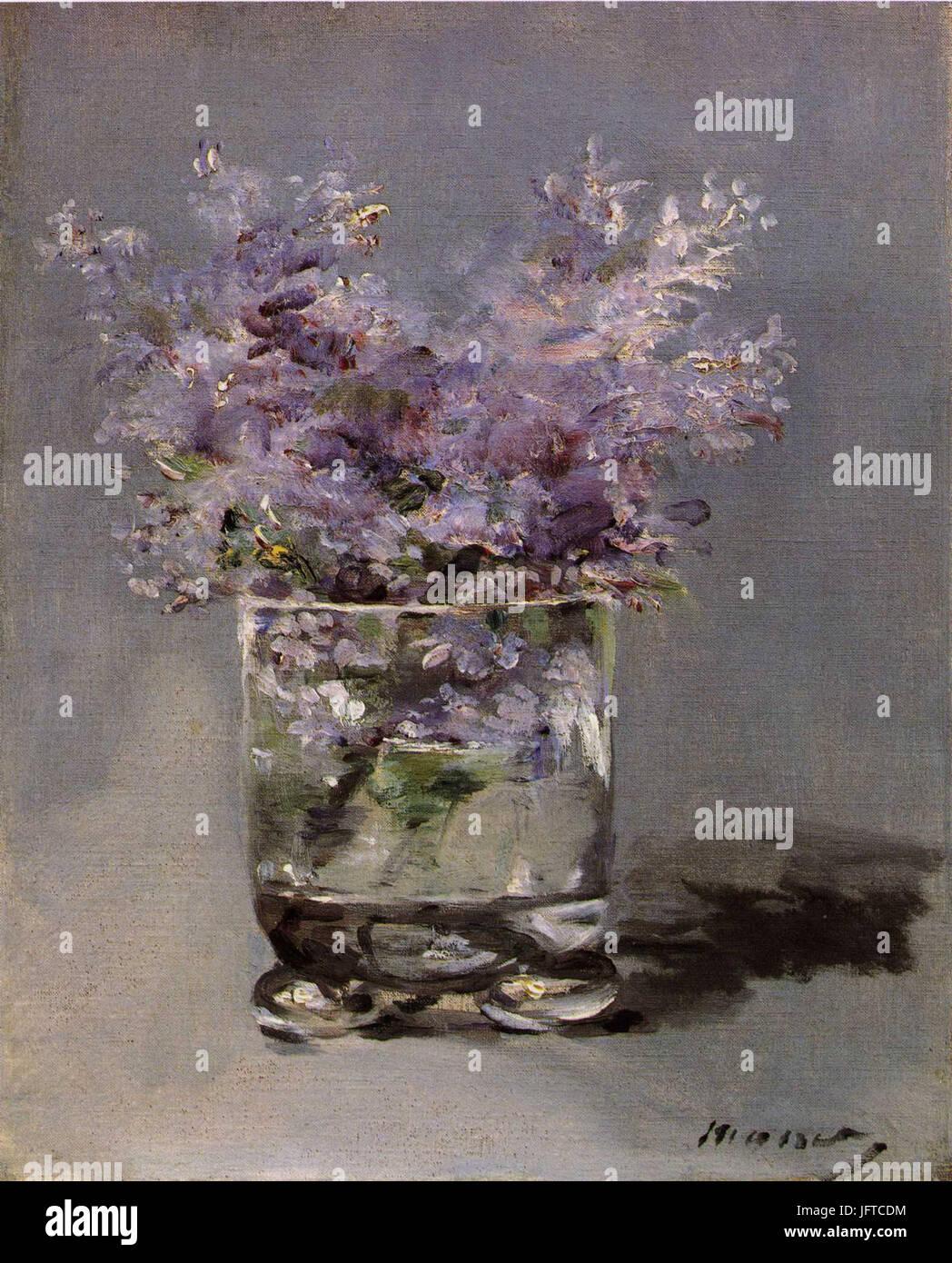 Édouard Manet - Lilas dans un verre (RW 382) - Stock Image