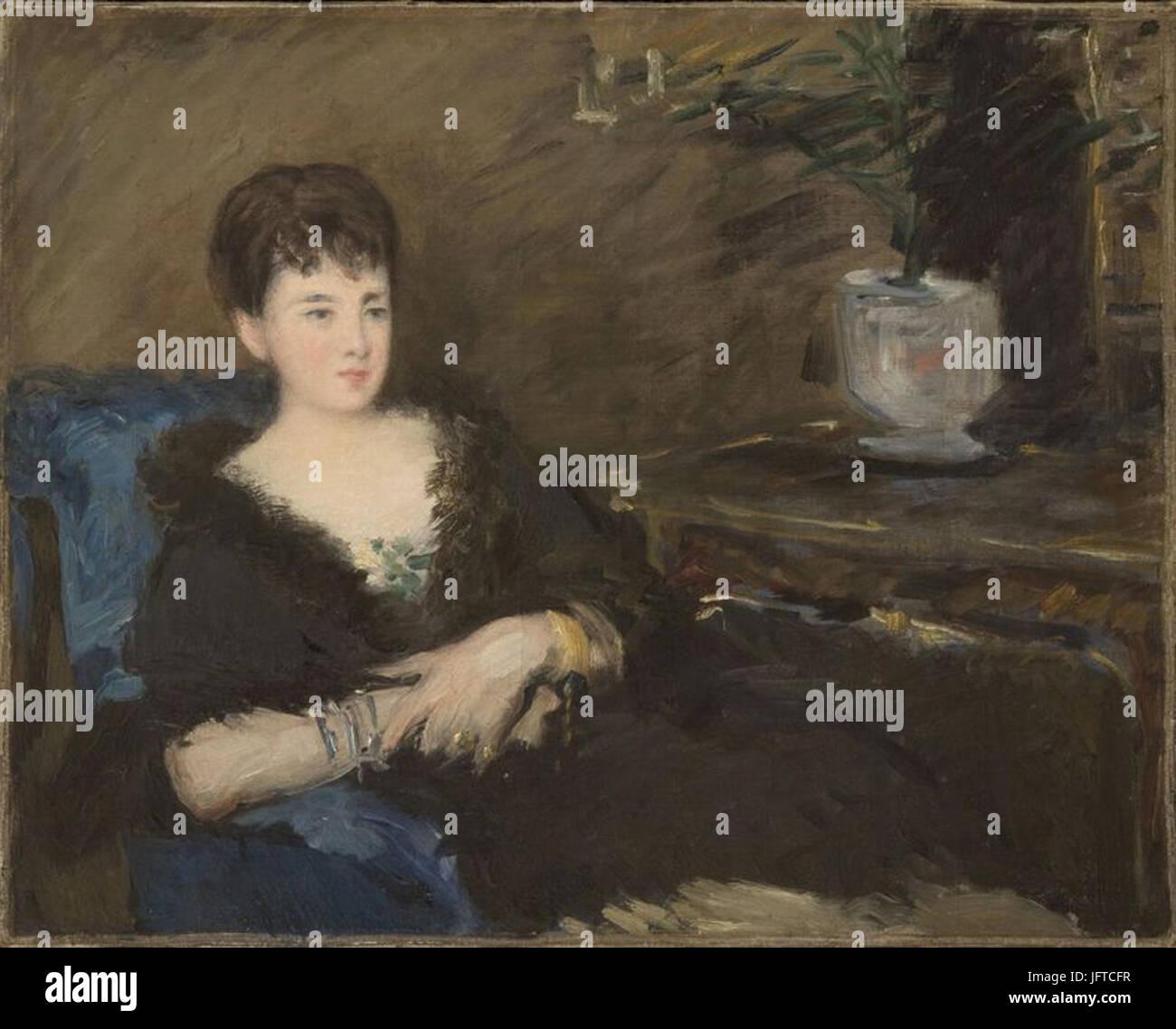 Édouard Manet - Mademoiselle Isabelle Lemmonier (RW 303) - Stock Image