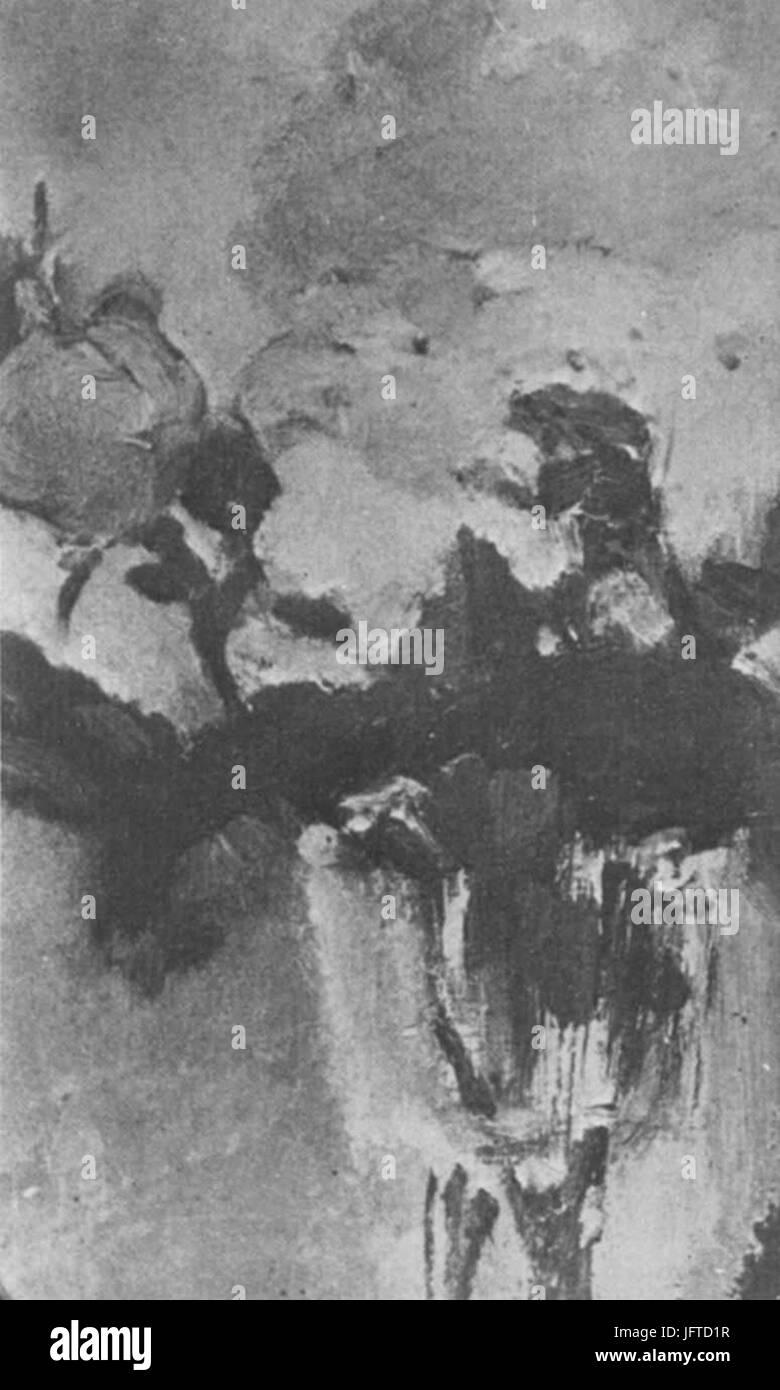 Édouard Manet - Roses dans un verre à pied (RW 430) - Stock Image