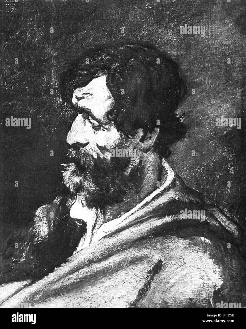 Édouard Manet - TơAAte d homme (RW 11) - Stock Image