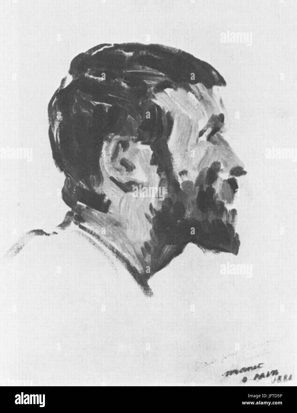 Édouard Manet - TơAAte d Olivier Paine (RW 367) - Stock Image