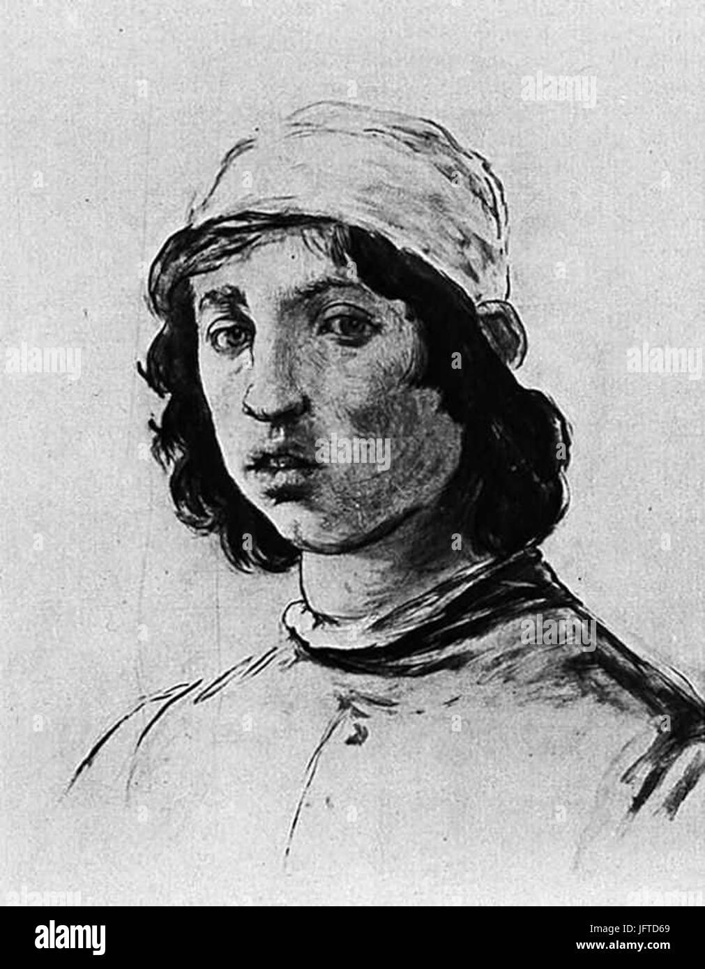 Édouard Manet - TơAAte d un jeune homme (RW 2) - Stock Image