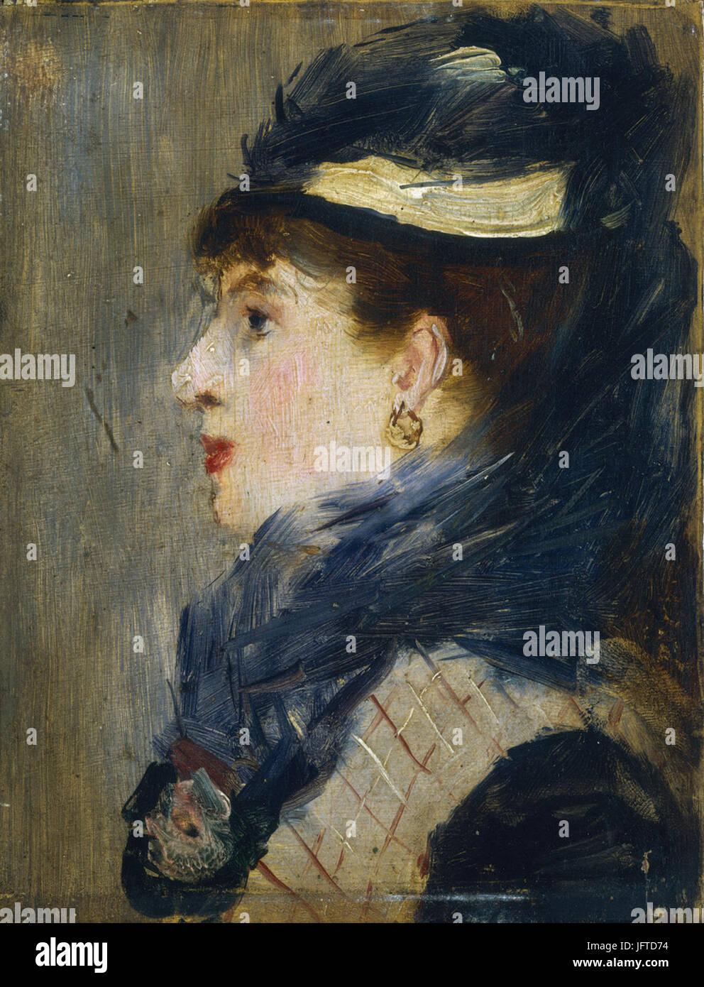 Édouard Manet - TơAAte de femme (RW 307) - Stock Image