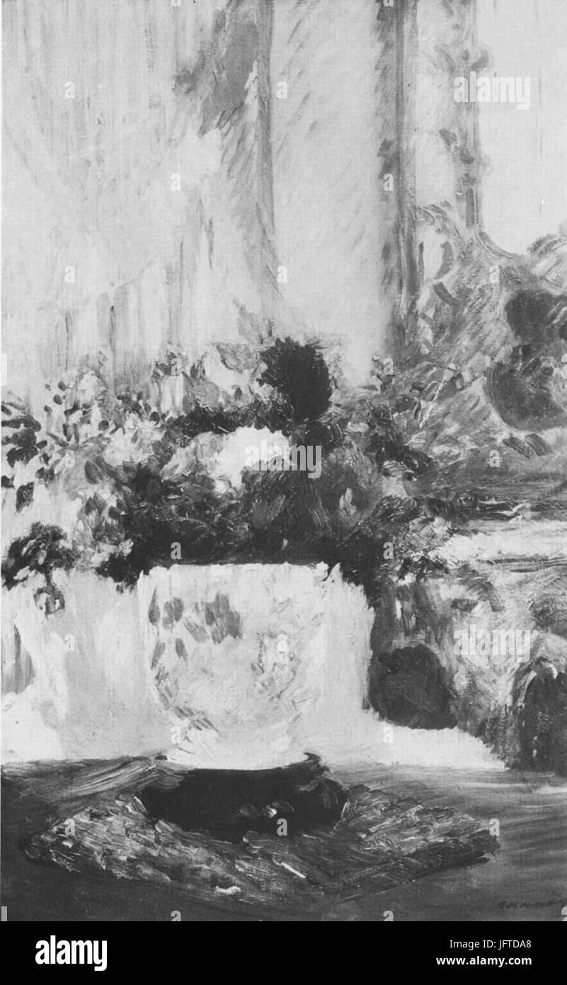 Édouard Manet - Vase de fleurs (RW 266) - Stock Image