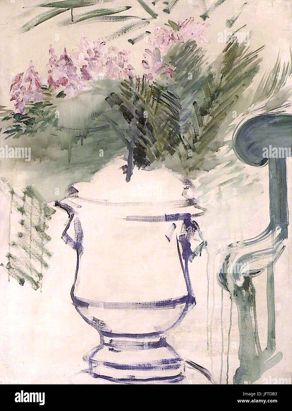 Édouard Manet - Vase de jardin (RW 288) - Stock Image