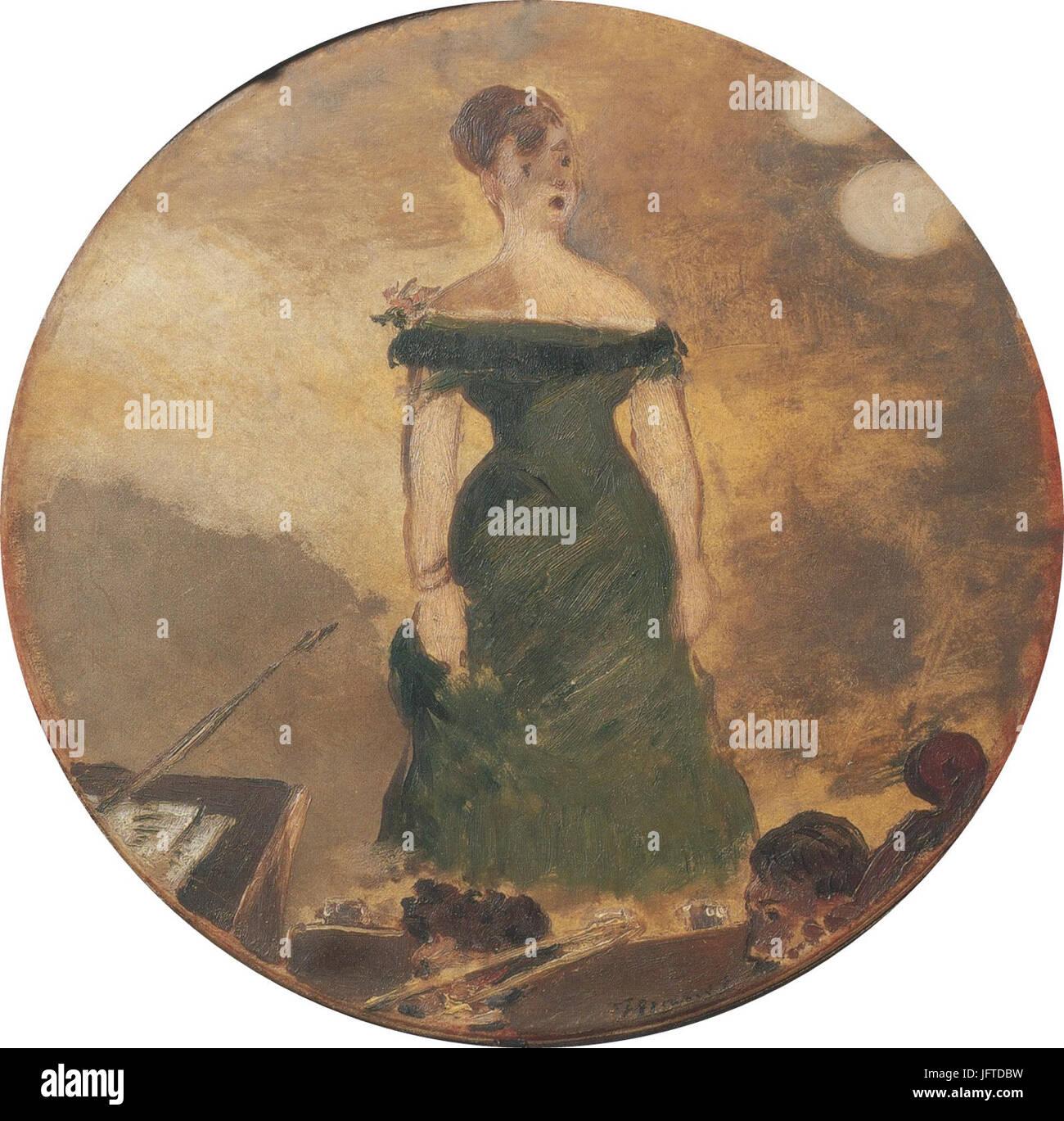 Édouard Manet -Chanteuse de café-concert (RW 3 ) - Stock Image