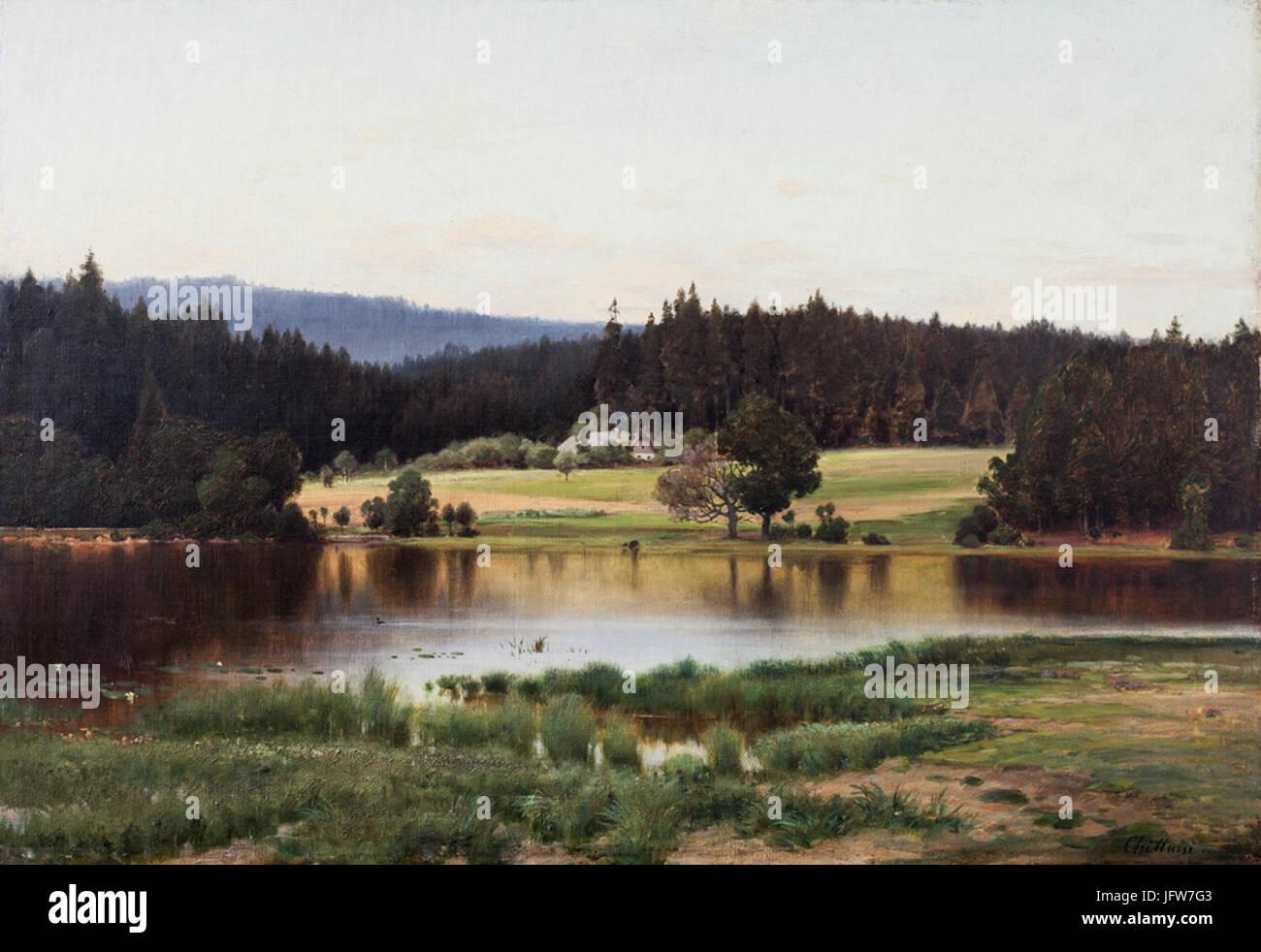 Antonín Chittussi - Lovětínský rybník Stock Photo