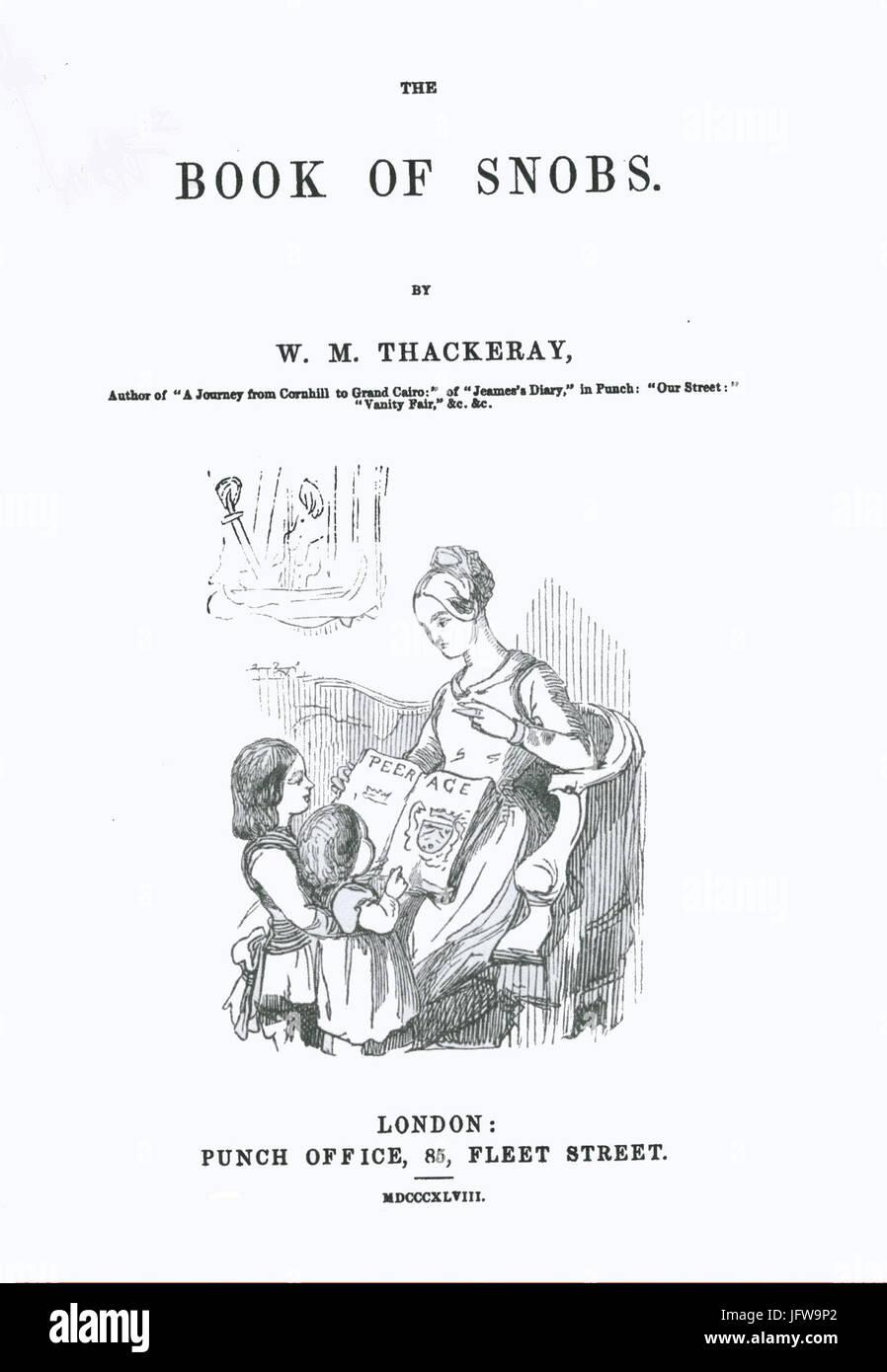 Book of Snobs-Première de couverture - Stock Image
