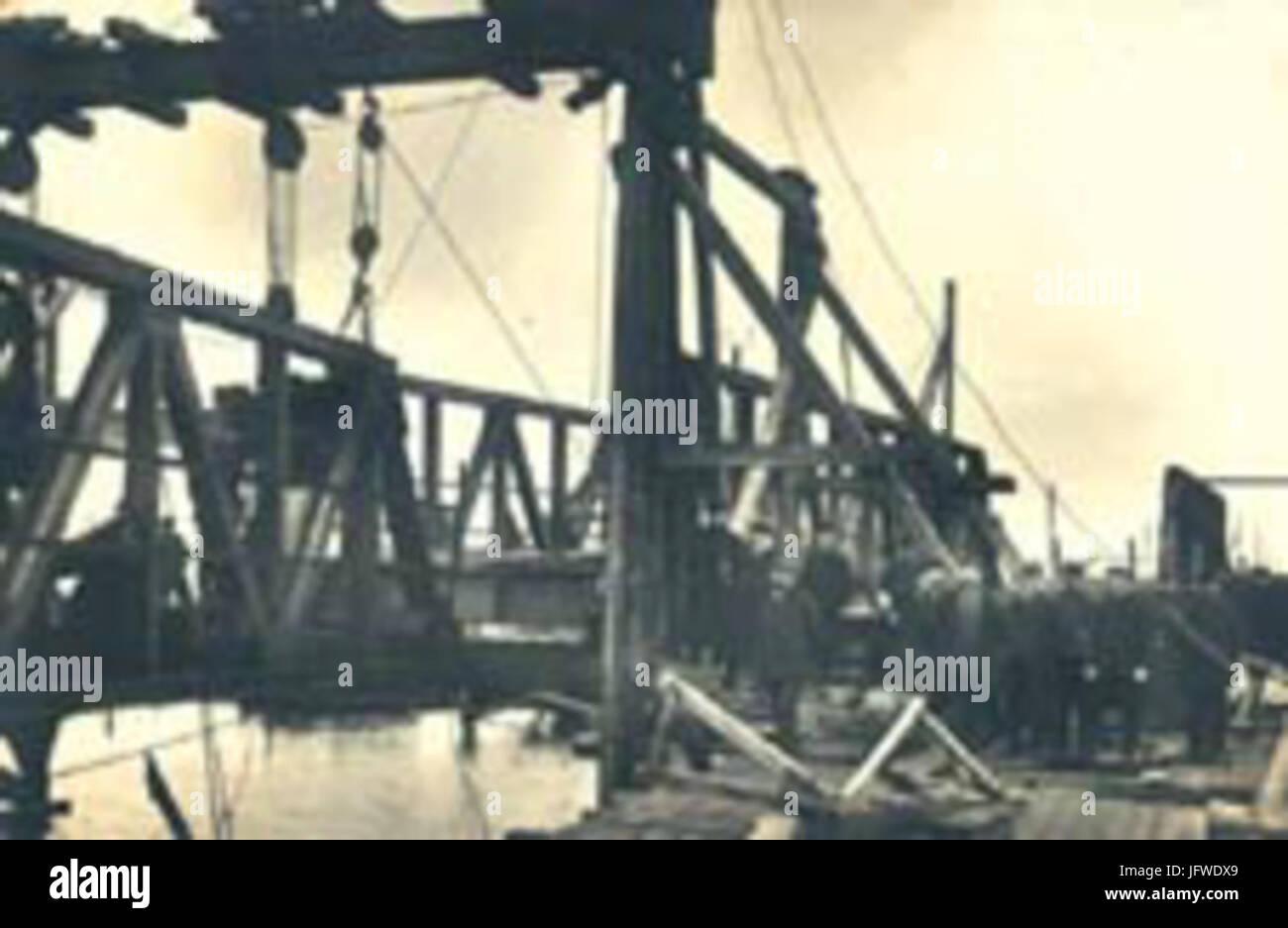Brueckenbau meiningenbrücke Stock Photo
