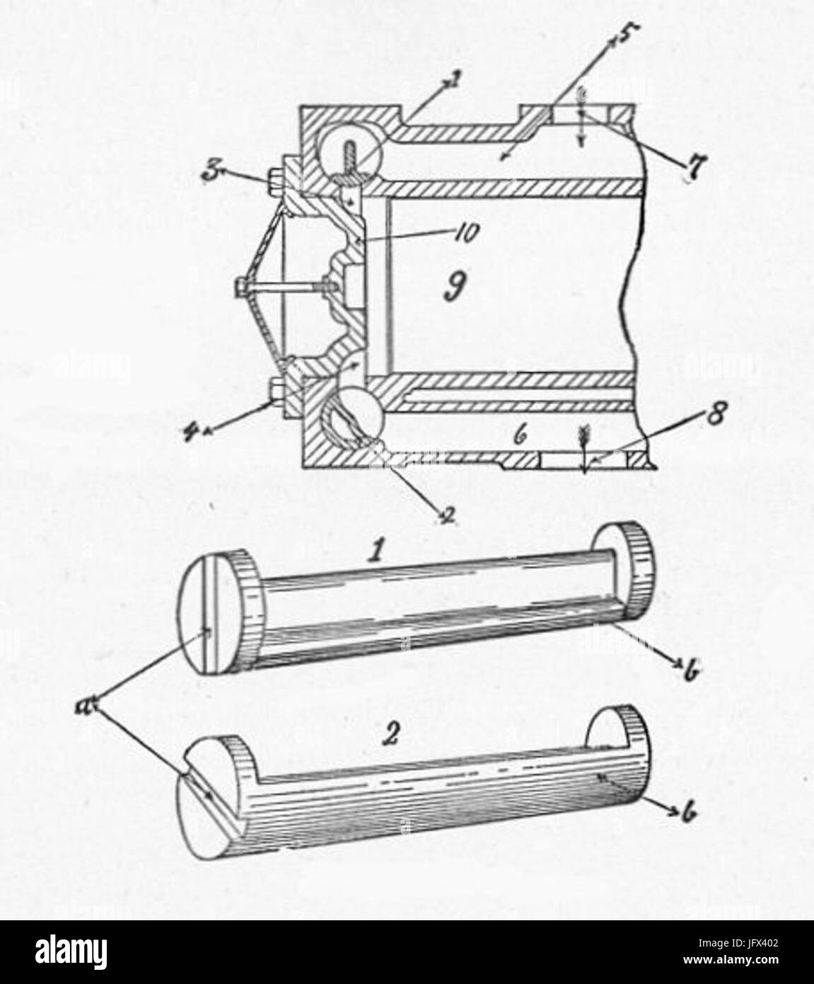 Corliss valves 28New Catechism of the Steam Engine 190429 - Stock Image