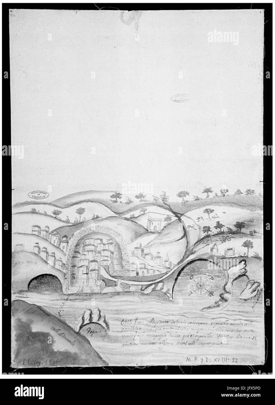 Béjaïa gravure 1603 Stock Photo