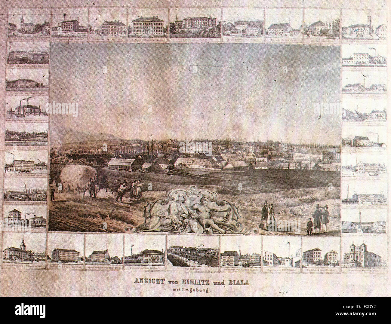 Bielsko-Biała 1871 - Stock Image