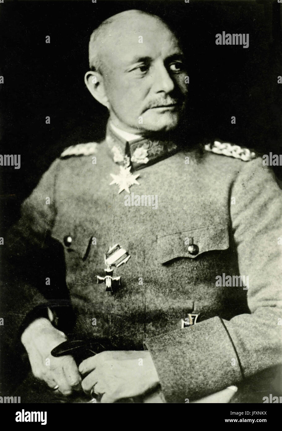 German General Paul von Lettow-Vorbeck - Stock Image