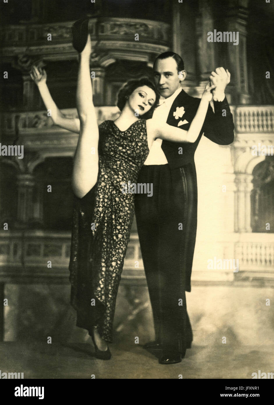 German dancing couple Francis & Fred, 1930s - Stock Image