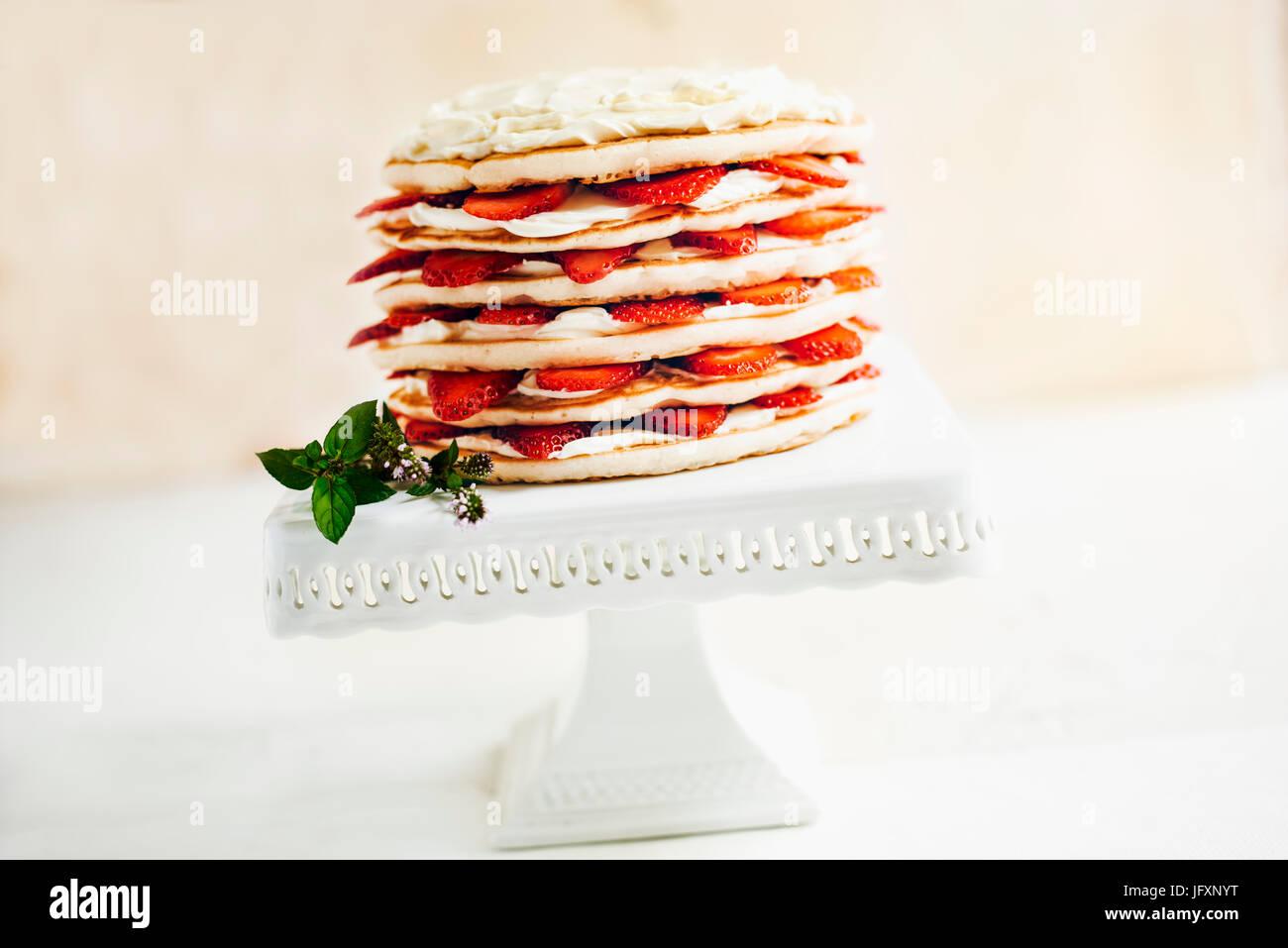 Pancake Cake - Stock Image