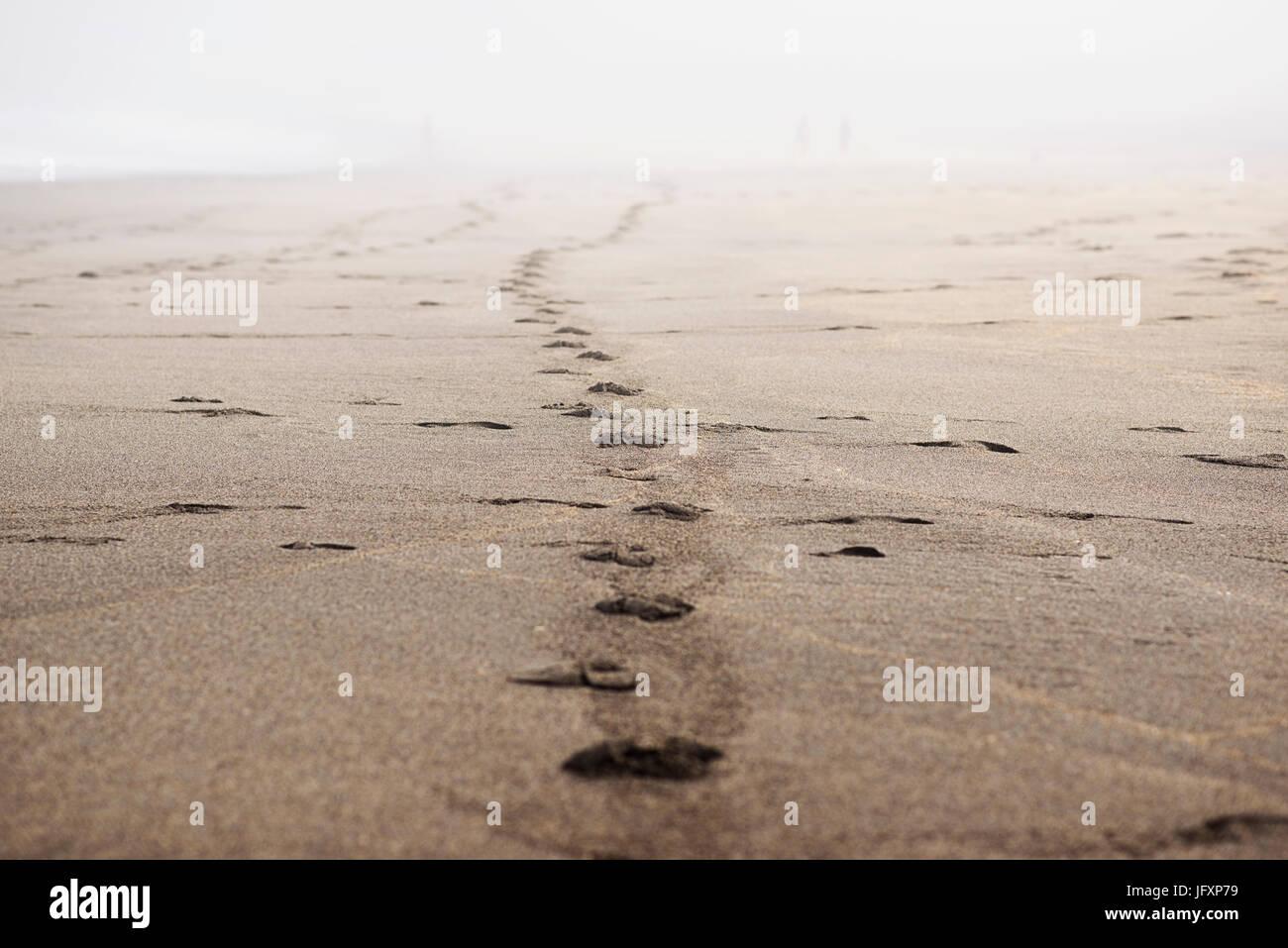 footprints - Stock Image