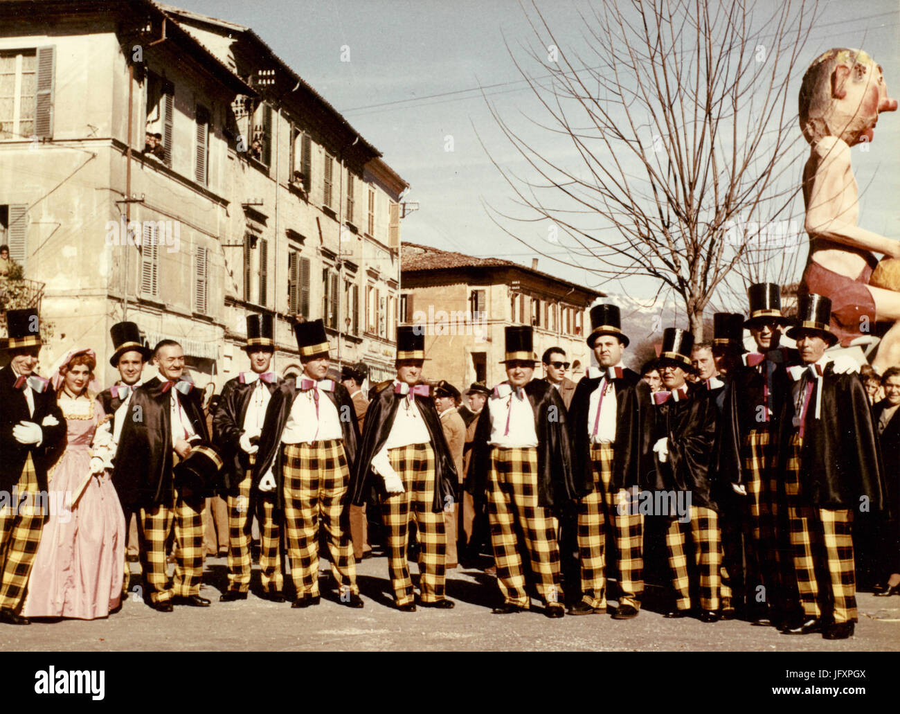 Organizing committee of Rieti Carneval 1960, Italy - Stock Image
