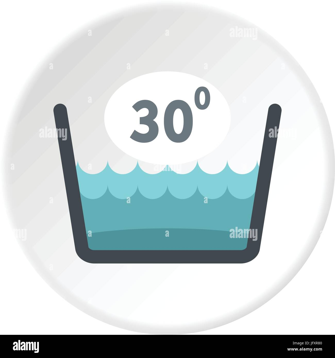 Delicate Gentle Thirty Degrees Icon Circle Stock Vector