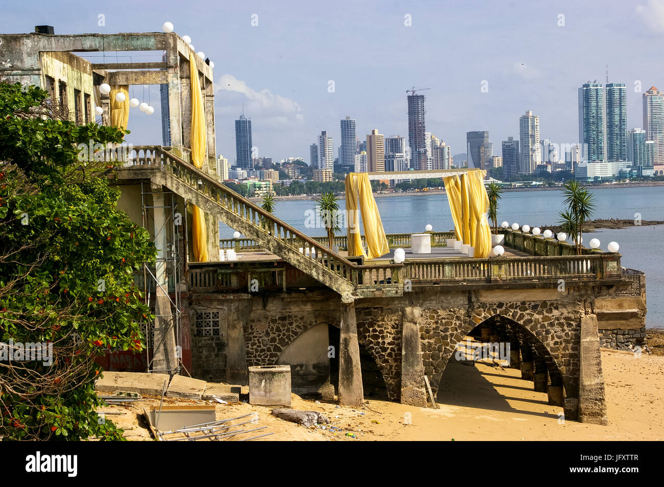 James Bond Film scene of Quantum of Solace in Panama - Stock Image