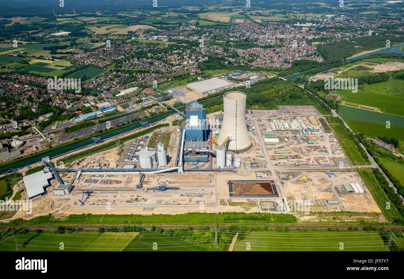 Power plant, Datteln 4, operators Uniper Kraftwerke GmbH, coal power plant, the new power plant Datteln IV, dates, - Stock Image