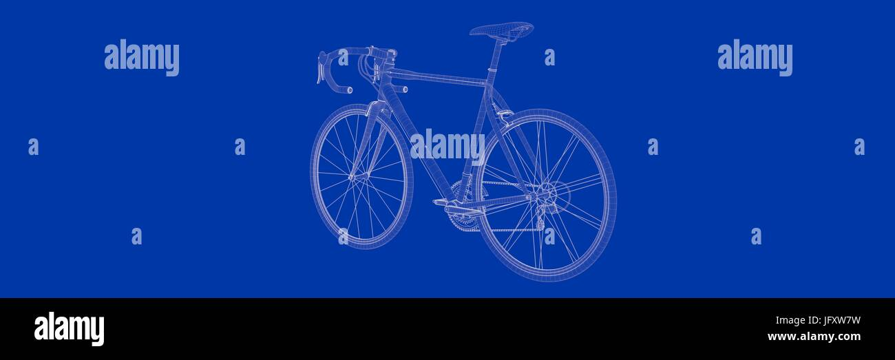 3d rendering of a bike on a blue background blueprint stock photo 3d rendering of a bike on a blue background blueprint malvernweather Gallery