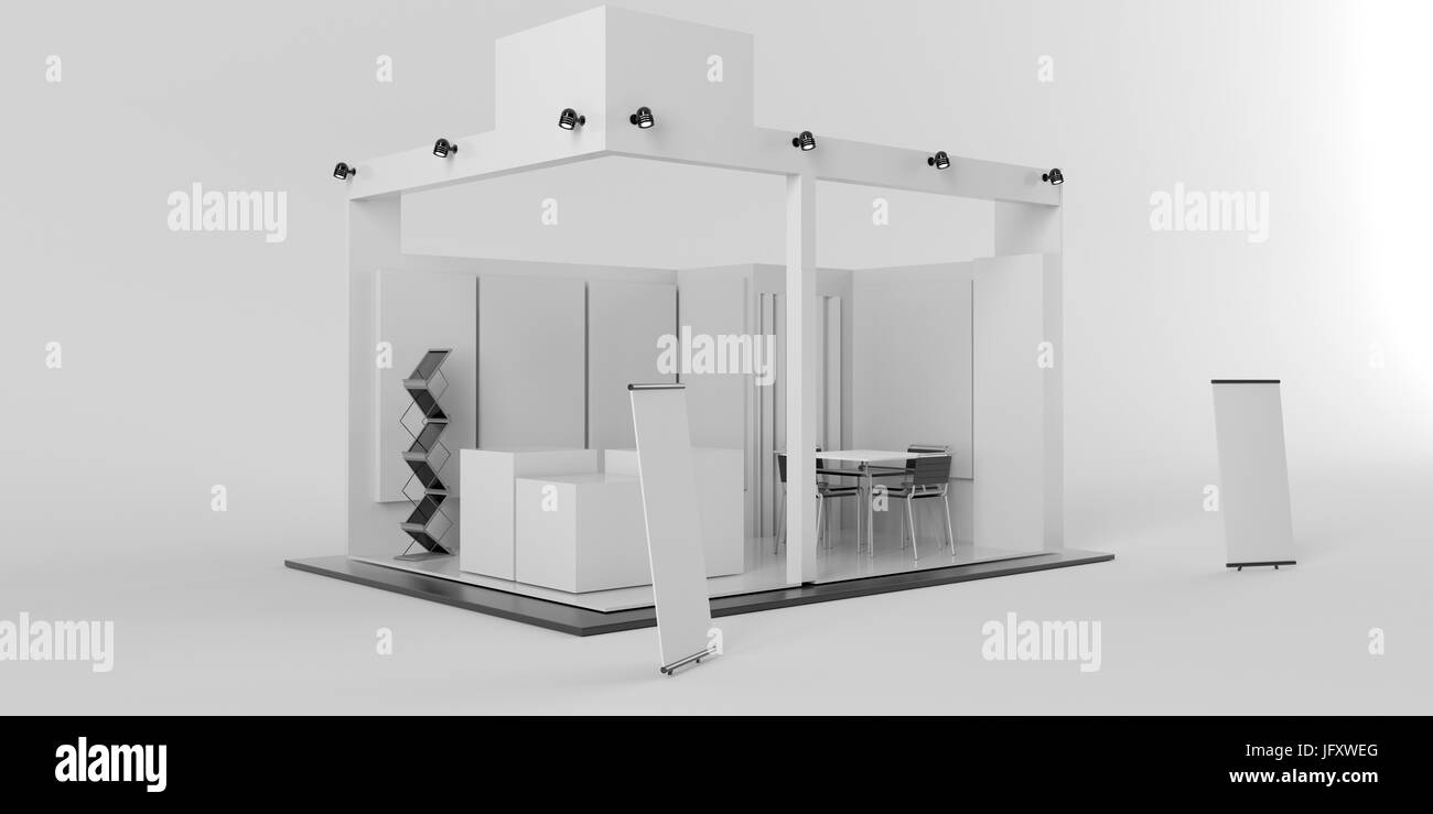 Exhibition Stand Or Booth : White creative exhibition stand design booth template corporate