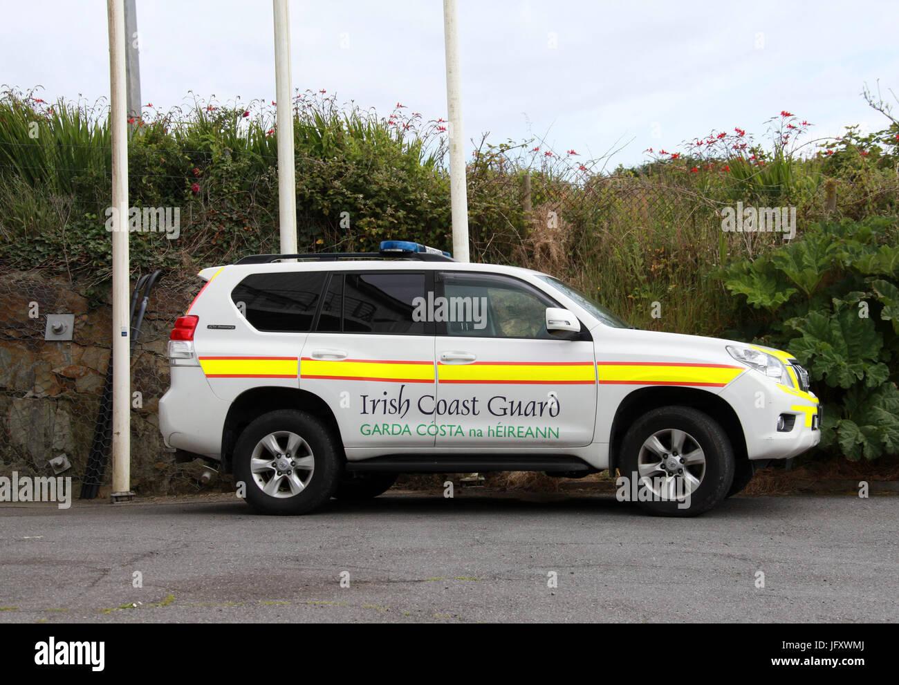 Irish Coast Guard Vehicle - Stock Image