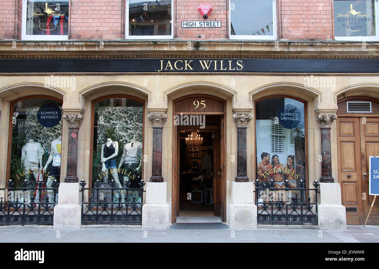 Jack Wills clothing store in Worcester - Stock Image