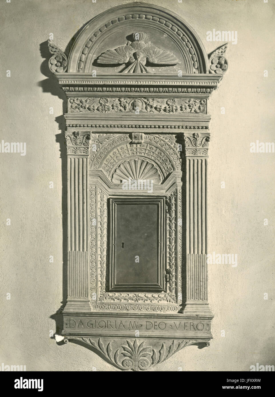 Tabernacle for the Holy Oil, by Antonio da San Gallo, Prato, Italy - Stock Image