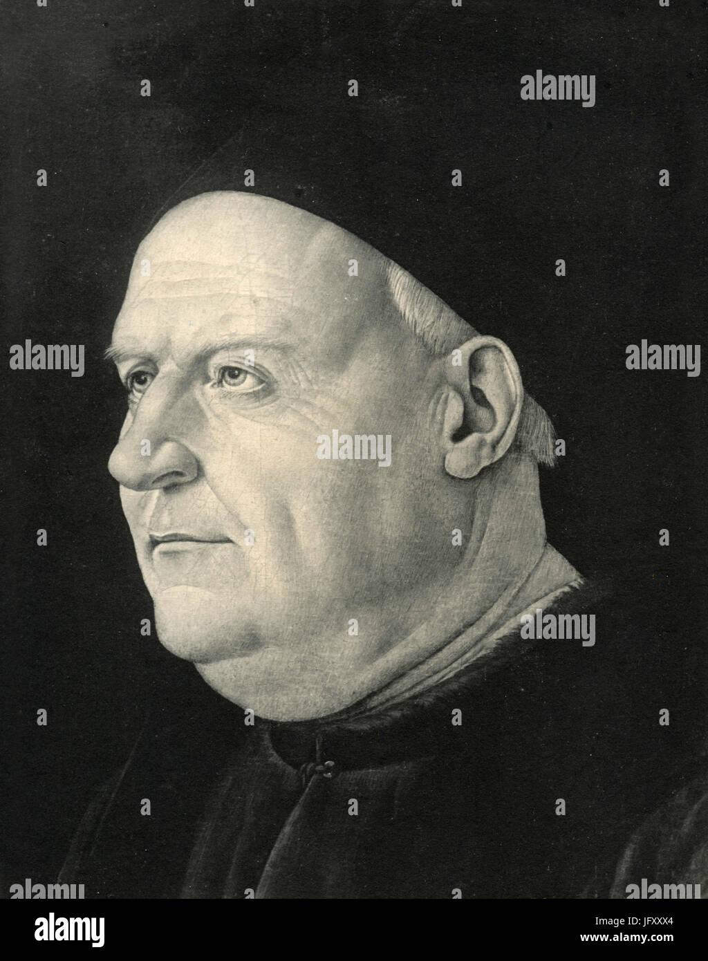 A Venetian Senator, painting by Buonsignori, London, UK - Stock Image